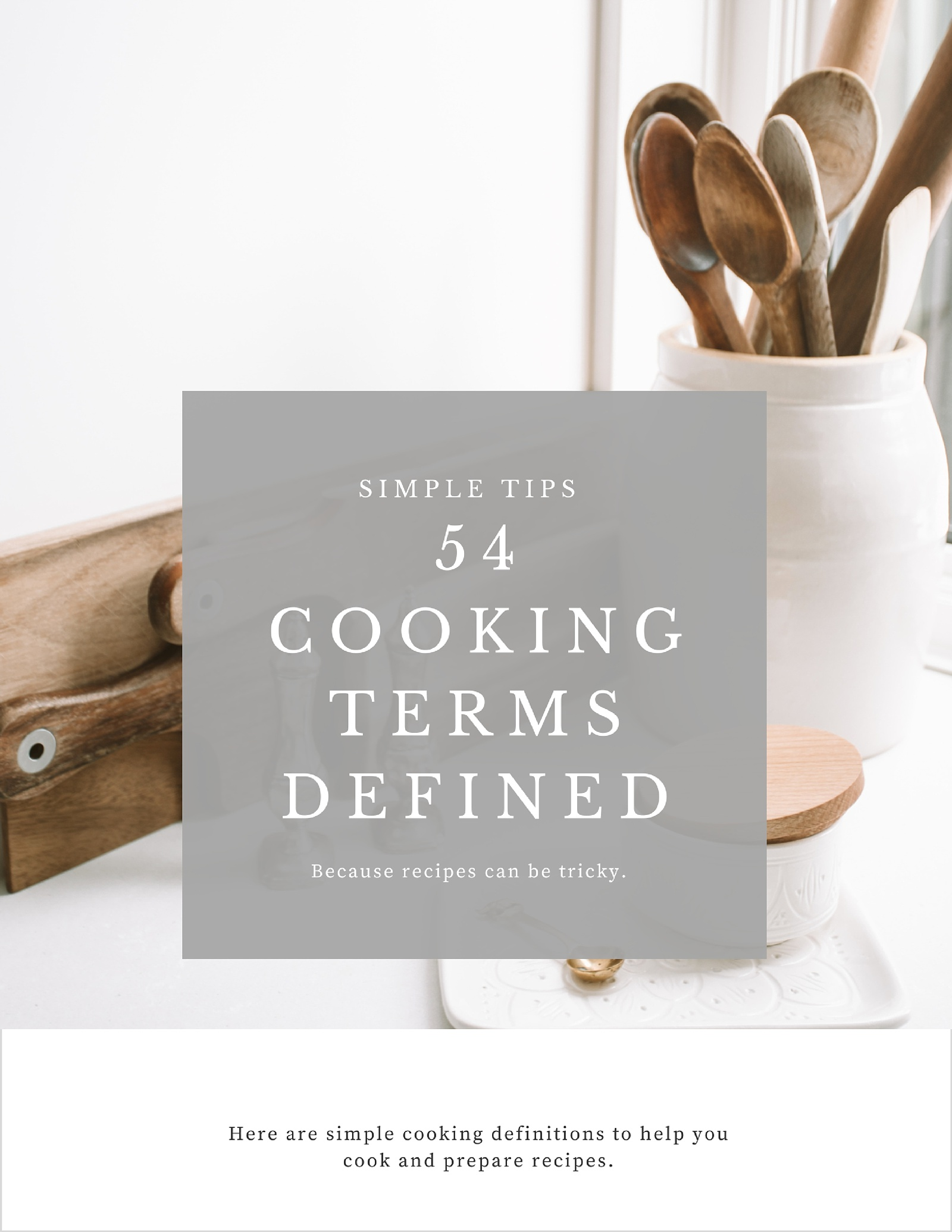 What Does That Mean?! Cooking Terms Defined