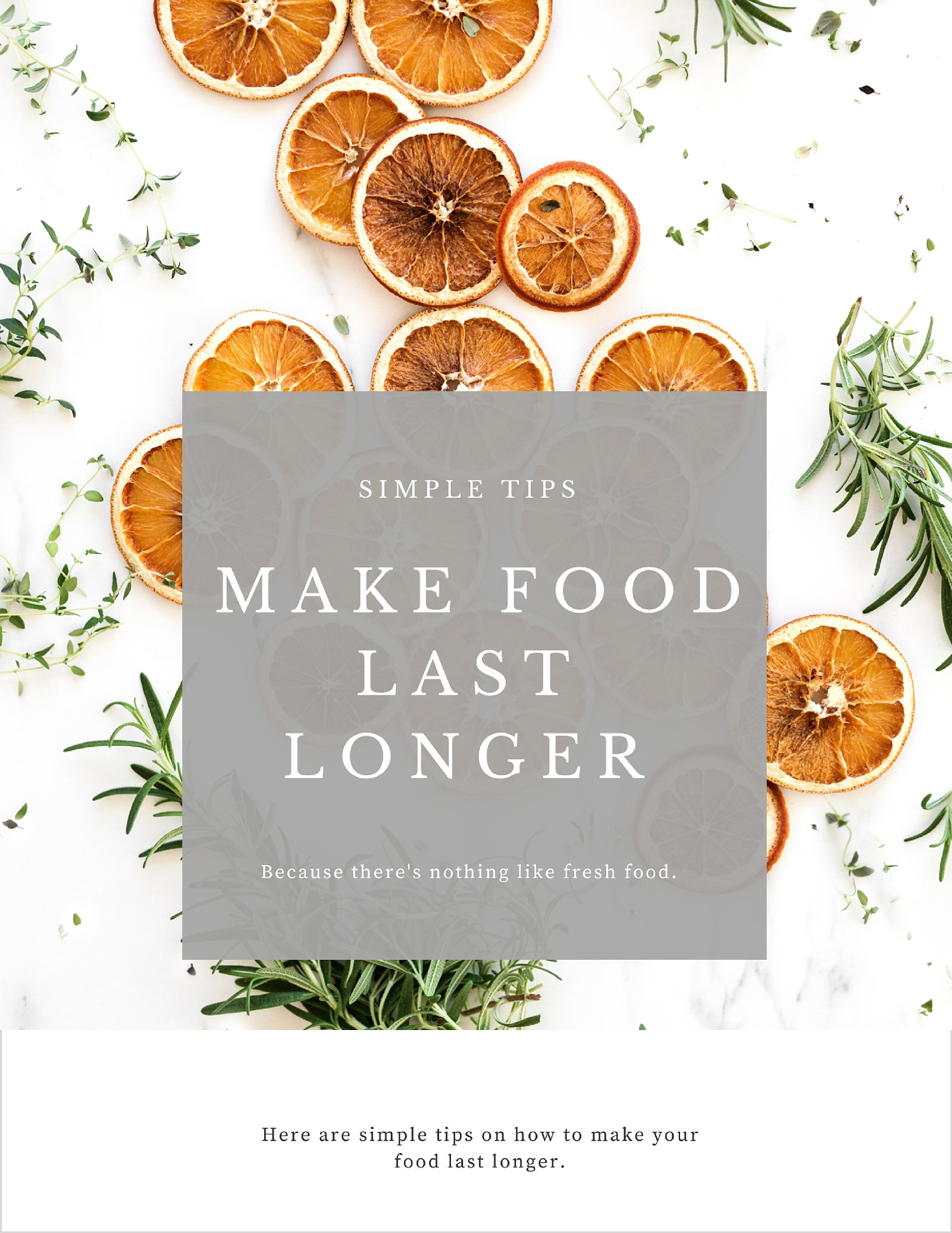 Food Storage: Making Your Food Last Longer