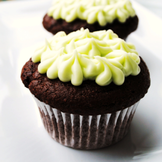Luck O' the Irish Simple Chocolate Cupcakes