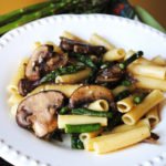 Lemon Pasta with Asparagus, Mushrooms and Onions Recipe