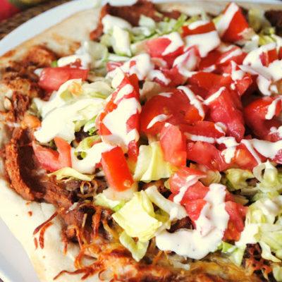 {Cinco de Mayo} Taco Pizza