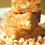 Peanut Butter and White Chocolate Macadamia Nut Blondies