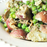 Red Skin Potato, Pea, Pesto and Bacon Salad
