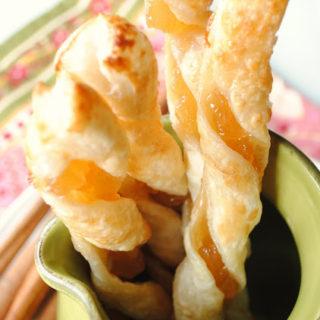 Apple Cinnamon Puff Pastry Twists