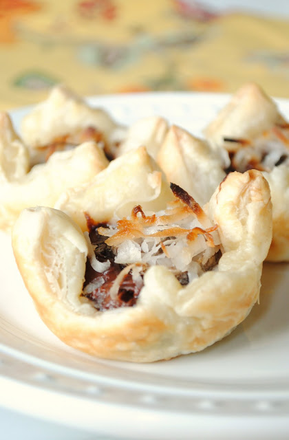 Nutella-Banana-and-Coconut-Puff-Pastry-Cups