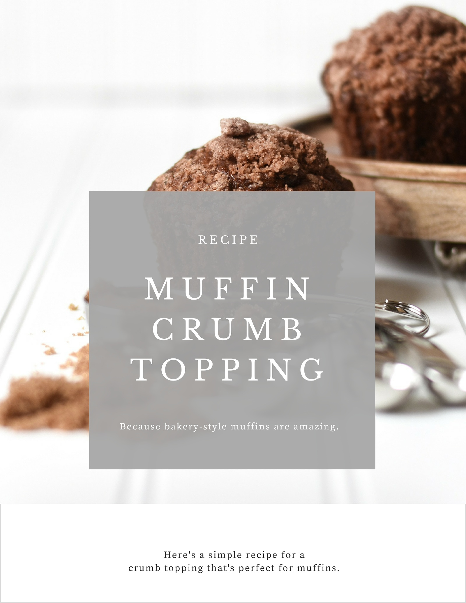 Recipe for a Muffin Crumb Topping
