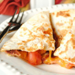 Bacon, Cheese and Tomato Quesadilla