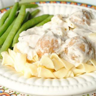 Mushroom and Meatball Pasta
