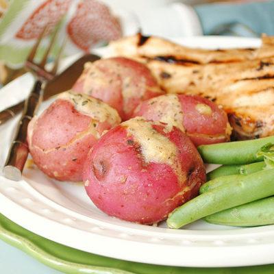 Paprika, Basil and Garlic Red Skin Potatoes