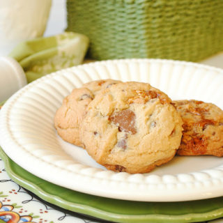 Snickers and Chocolate Chip Cookies