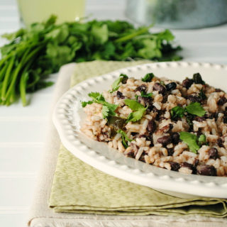 Rice with Black Beans, Cilantro, and Lime