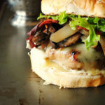 Turkey Burgers with Turkey Bacon, Dill Mayo, Mushrooms and Onions