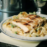 Chicken and Pea Fettucini Alfredo