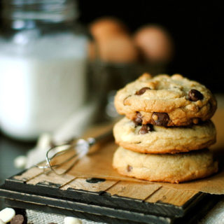 White and Milk Chocolate Chip Cookies