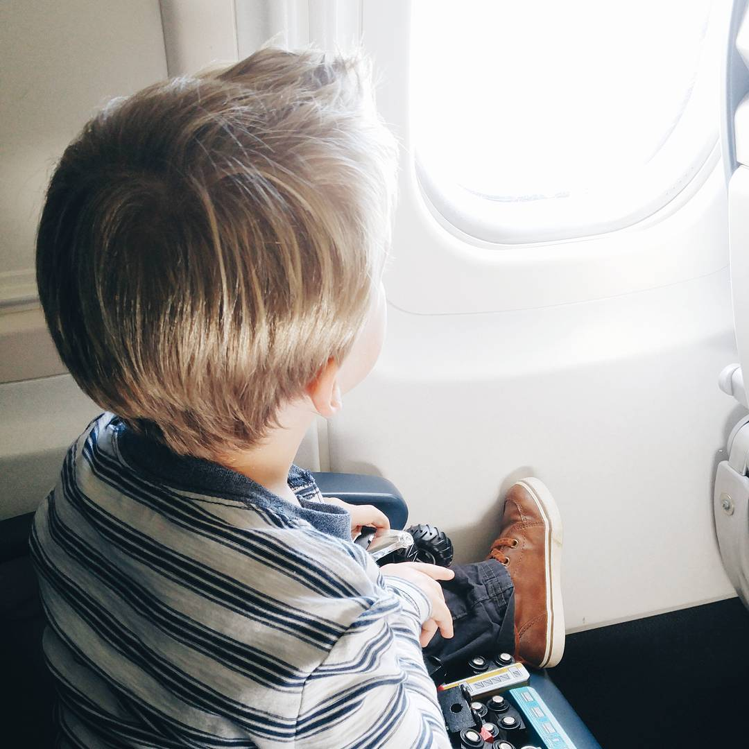 I took the kiddo on his first flight yesterday Whathellip