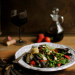 Strawberry, Pecan, and Mixed Green Salad with Balsamic Vinaigrette