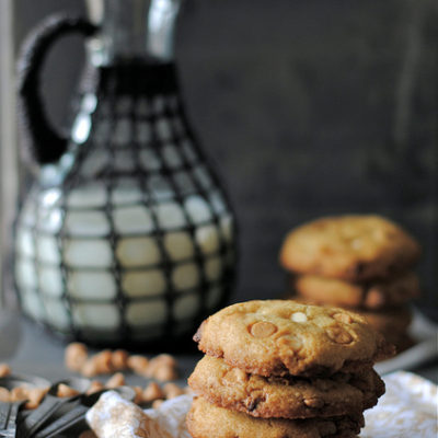 Peanut Butter and White Chocolate Chip Cookies