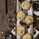 Chocolate and White Chocolate Chip Pecan Cookies