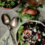 Tomato and Blue Cheese Couscous Salad with Spicy Oil Dressing