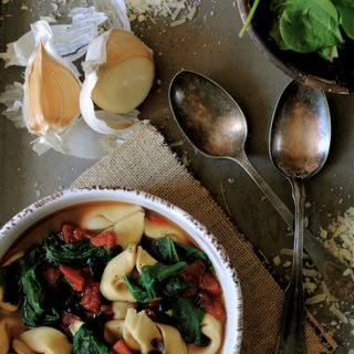 Tortellini, Spinach, and Bean Soup