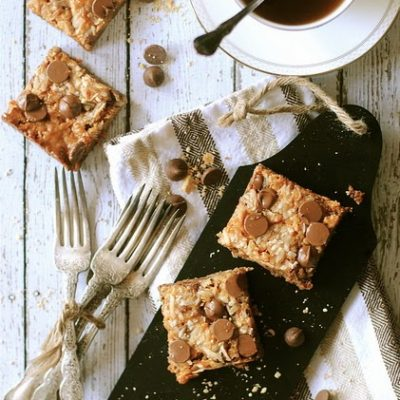 Chocolate and Coconut Cookie Bars