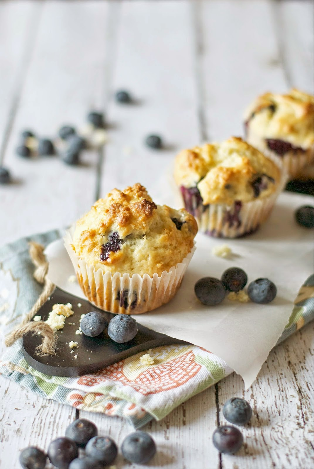 Lemon Ginger Blueberry Muffins