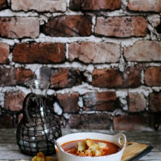 Homemade Rustic Cheese Croutons and DOLE Garden Soup