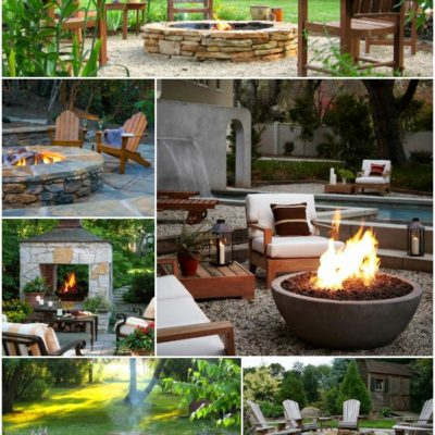 Outdoor Design: Backyard Firepit Inspiration Board