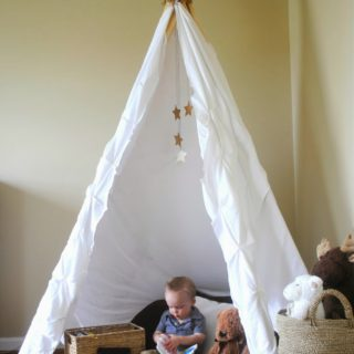Neutral Playroom with No-Sew Teepee