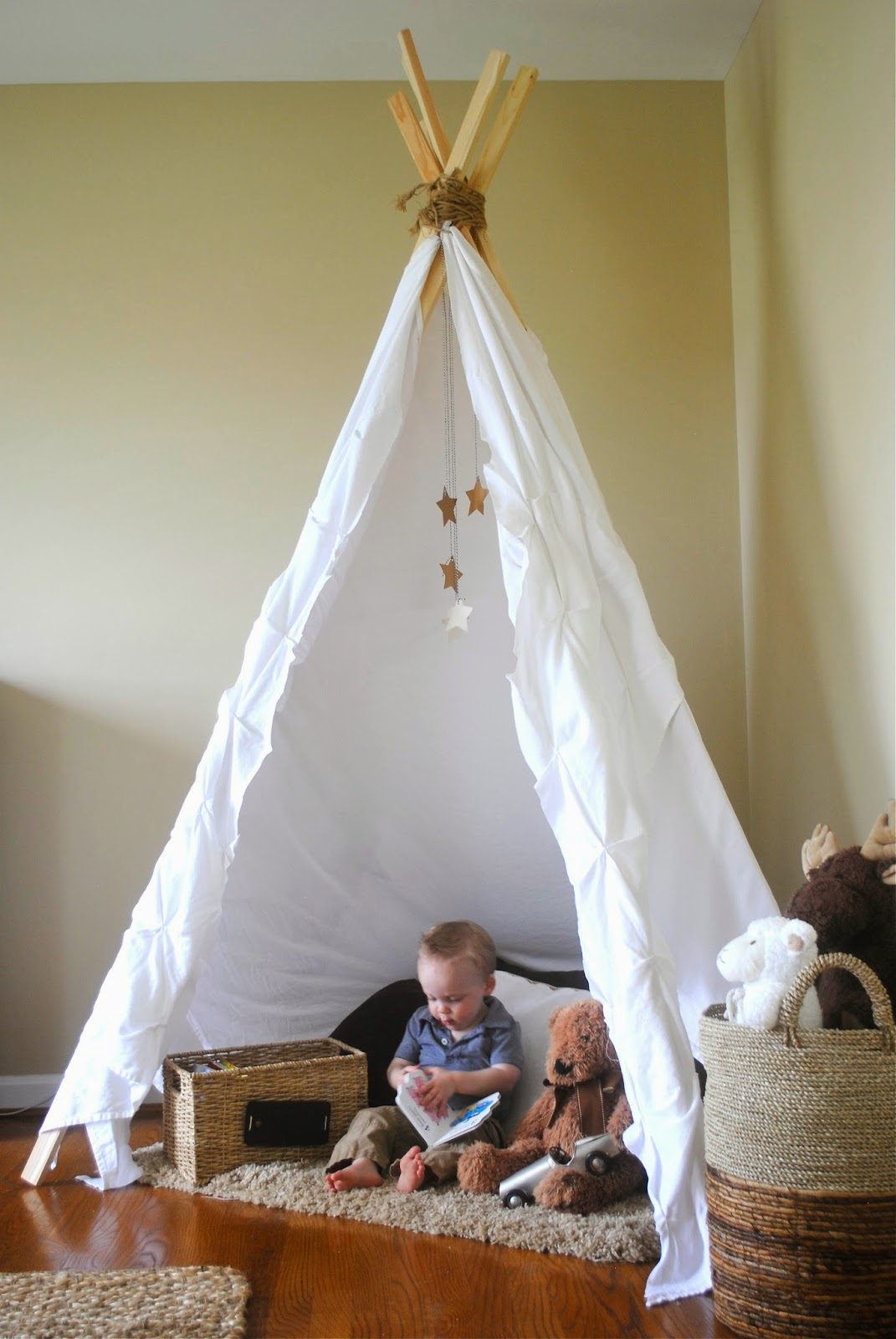 Neutral Playroom With No Sew Teepee How To Simplify