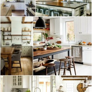 Home Decor: White Kitchen Inspiration Board