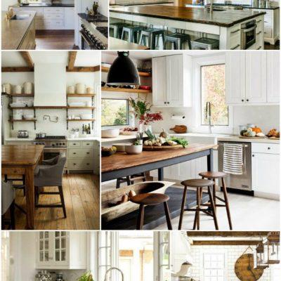 Home Decor: White Kitchen Inspiration Board