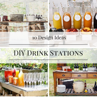 10 DIY Drink Station Ideas