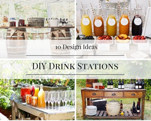10 DIY Drink Station Ideas