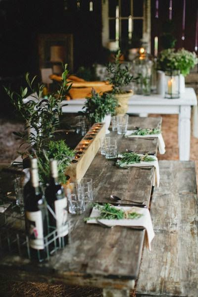 10 Ideas for Rustic Table Setting. Via Local Milk Blog · Via Etsy & 20 Tips and Ideas for Rustic Table Settings - How To: Simplify