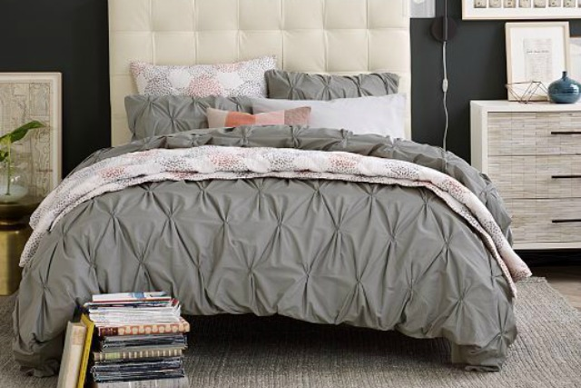 pintuck bedding