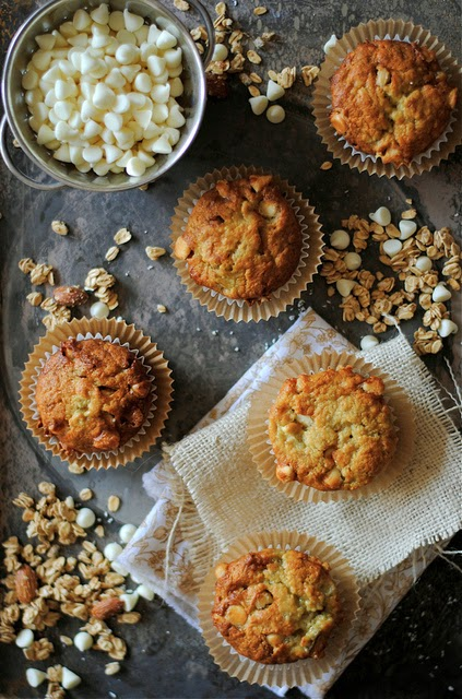 Banana-and-white-chocolate-chip-muffins
