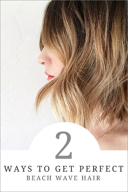 perfect beach wave hair