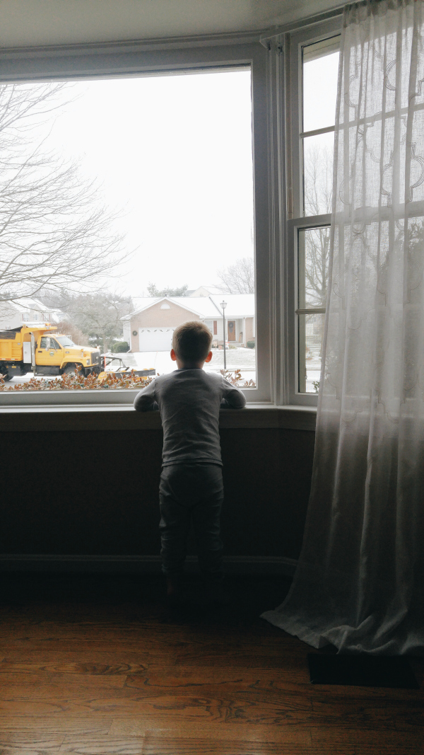 Watching the snowplow