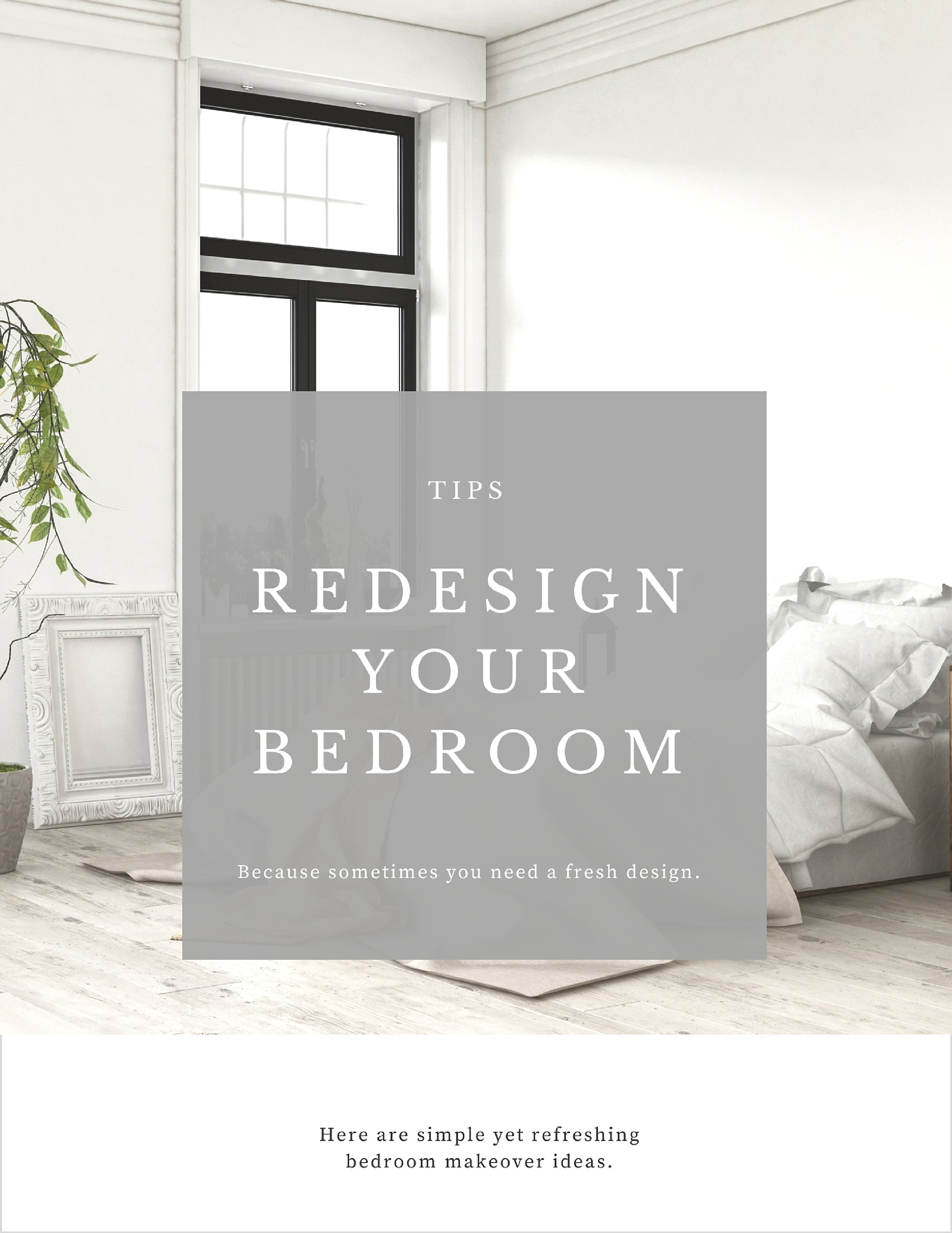8 Refreshing Bedroom Makeover Tips - How To: Simplify