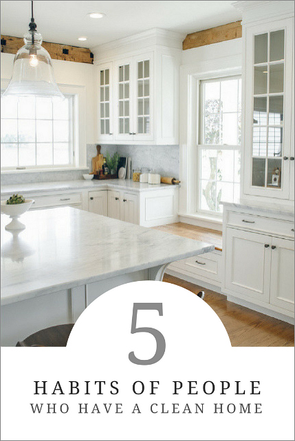 5 Habits of People Who Have a Clean Home