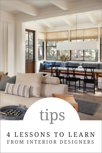 4 interior design tips you can learn from professionals for Learn interior design