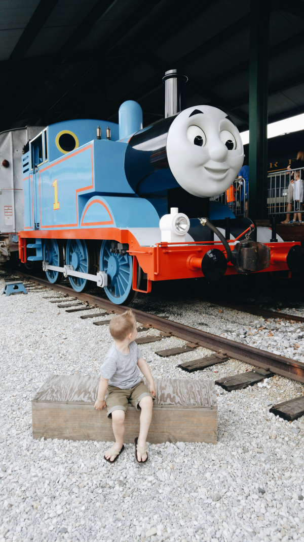 being in disbelief about being so close to the real Thomas the Train
