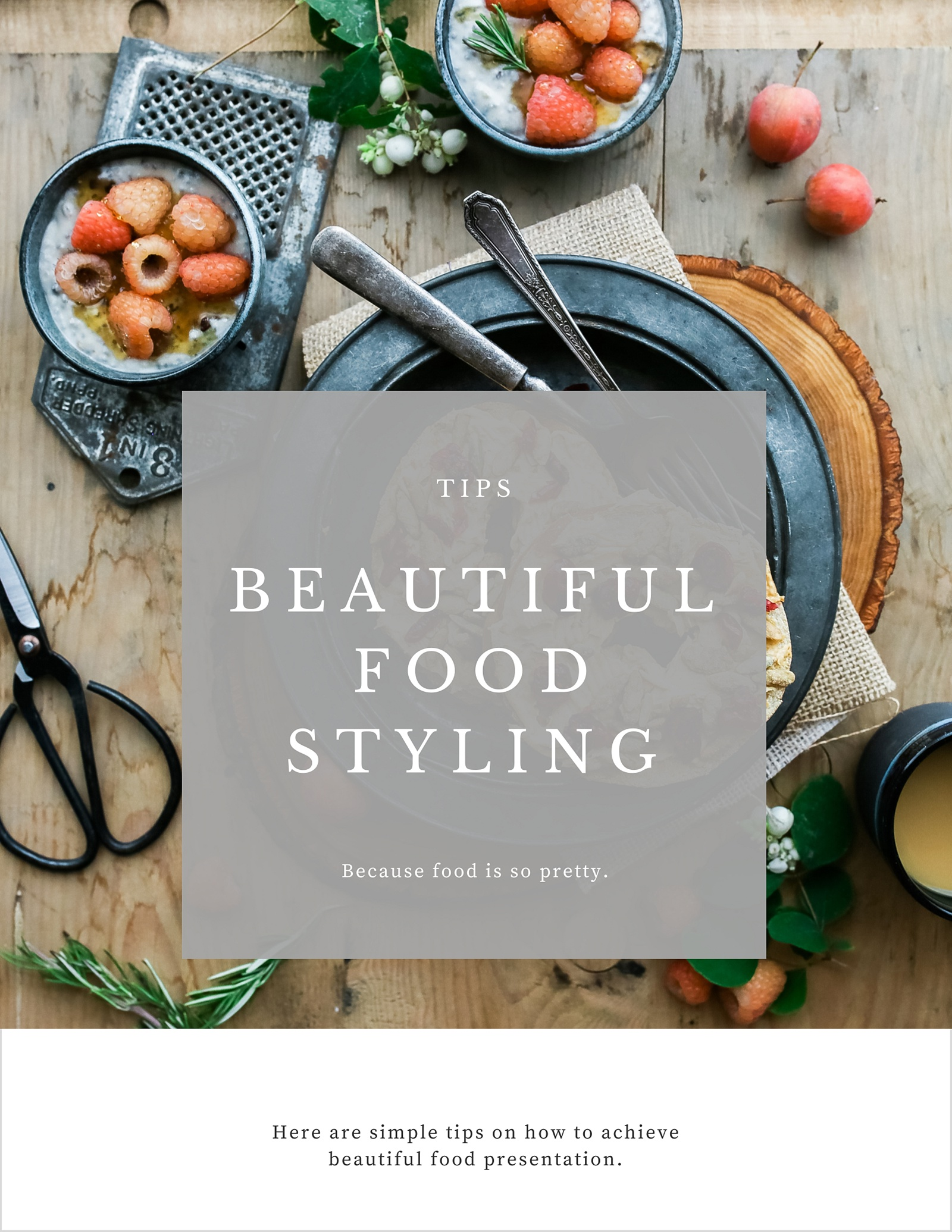 5 Tips for Beautiful Food Presentation