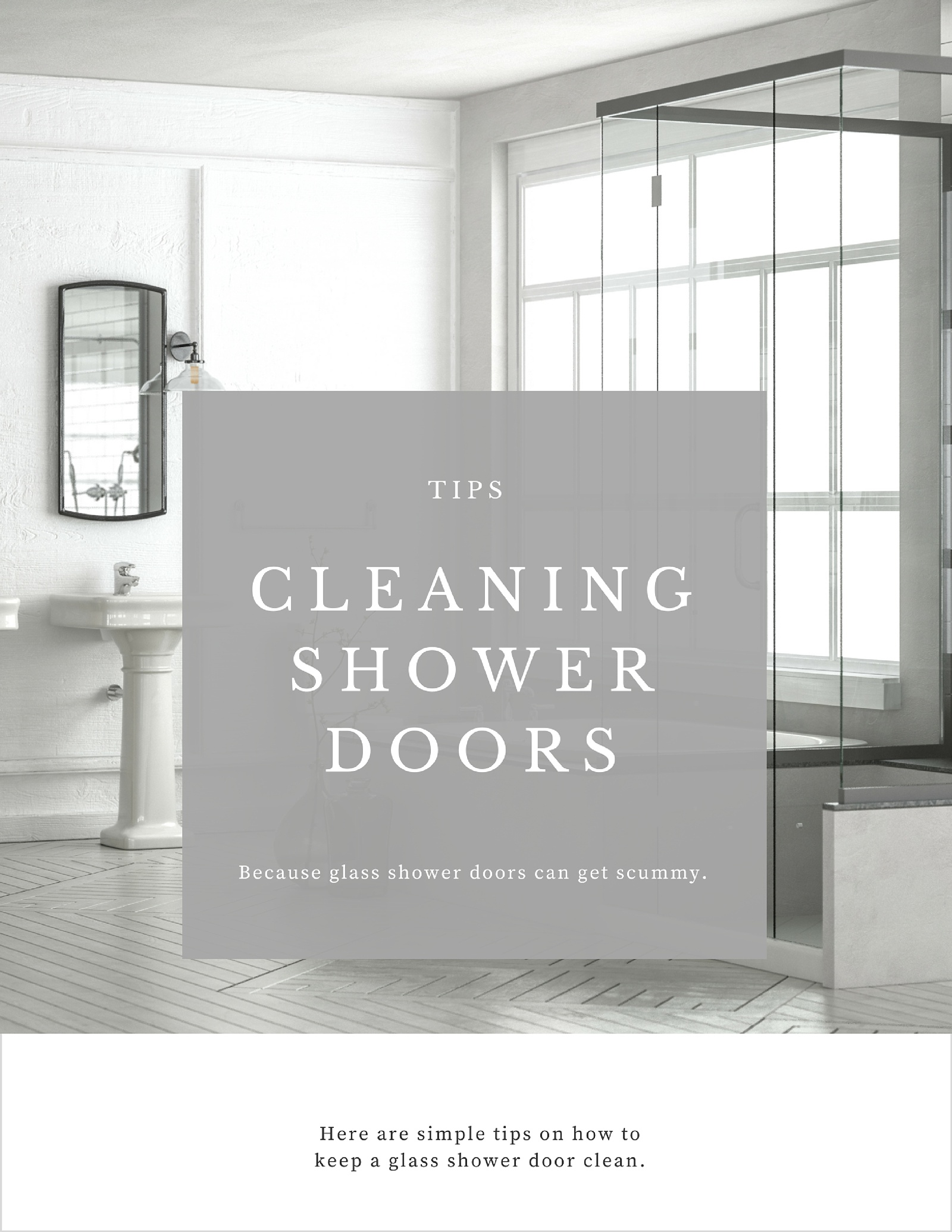 How To Keep A Glass Shower Door Clean How To Simplify
